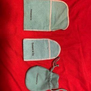 3 different Tiffany & Company pouches